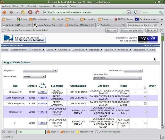 Sistema de Control de Servicios Técnicos | Vy&Za Soluciones Web